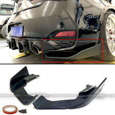For 17-19 Infiniti Q60 2Dr Coupe Jdm Style Rear Bumper Lip Aprons Splitter 2pcs