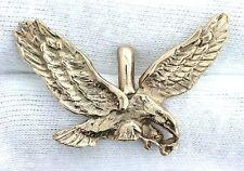 14KT REAL SOLID Yellow Gold American Bald Eagle Custom Designer Pendant