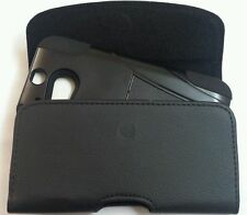 FOR Motorola DROID MAXX 2 BELT CLIP LEATHER HOLSTER FIT A HYBRID CASE ON PHONE