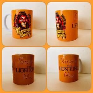 personalised mug cup lion king scar im surrounded by idiots villan baddie gift