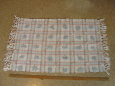 """Woven Area Throw Rug Rectangle Tufted Plaid Pastels Fringe Ends 33"""""""