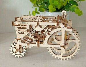UGears TRACTOR Self-propelled mechanical wooden model 3D puzzle