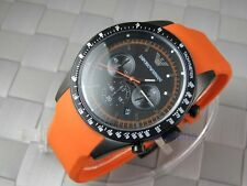 Emporio Armani AR-5987, Orange Rubber Strap Men's Chronograph Watch