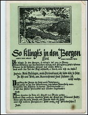 "Liedkarte Lied-AK ~1955 DDR Musik Text Möller Roth ""So klingt´s in den Bergen"""
