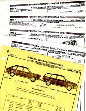 1968 1969 - 1974 VOLKSWAGEN TYPE 4 421 461 PART FRAME ORIGINAL CRASH SHEETS MF 2