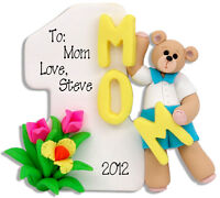 #1 Mom - Mother's Day Boy Personalized Christmas Ornament - Polymer  Deb & Co.