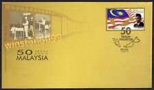 2013 Malaysia 50 Years Anniversary (Flag Map Prime Minister) 1v Stamp FDC Melaka