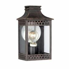 Stylish Outdoor Wall Light Lantern With Ornate Bronze Metal Work IP44 By Philips