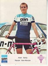 CYCLISME carte ALAIN SANTY equipe GAN MERCIER signée et dedicasse au dos