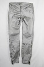 Witchery silver coated skinny jeans with ankle zip - NWOW - 10