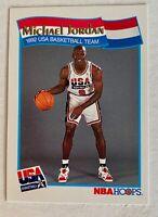 "1991-92  MICHAEL JORDAN - NBA HOOPS McDonalds ""USA BASKETBALL TEAM"" Card # 55"