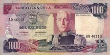 BILLET BANQUE ANGOLA 1000 escudos 1972 état voir scan 113