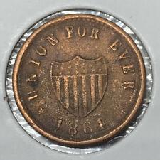 1864 Indian Princess Union For Ever Shield Patriotic Civil War Token