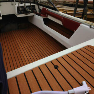 Teak Decking Brown With Glue EVA Foam Faux Teak Sheet Boat Yacht Van Synthetic