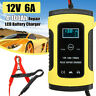12V 6A Caricabatterie Mantenitore Batteria Impulso LCD Piombo Acido Auto e Moto