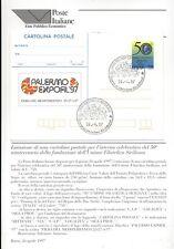 ITALIA 1997 FILATELIA SICILIANA BOLLETTINO COMPLETO DI CARTOLINA POSTALE FDC