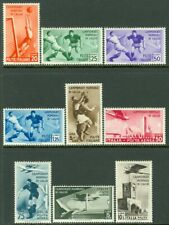 EDW1949SELL : ITALY 1934 Sc #24-28, C62-65 Sports set Complete. VF MOG Cat $264