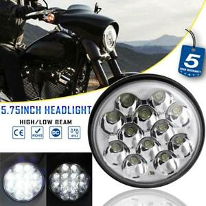 """5.75"""" Round Motorcycle LED Headlight Projector Hi-Lo Beam for Harley Motorcycle"""