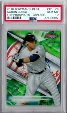 2016 TOPPS AARON JUDGE BOWMANS BEST TOP PROSPECTS GREEN PRE ROOKIE CARD PSA 10