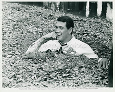 ROCK HUDSON BLINDFOLD  1966 VINTAGE PHOTO ORIGINAL