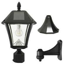Baytown II Bulb 1-Light Black LED Outdoor Solar Post/Wall Light