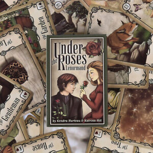 Under the Roses Lenormand 39 Card Deck the Clock Tower LOVE Oracle Tarot;JO