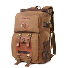 Koolertron Vintage Canvas Handbag Shoulder Bag School Bag Travel Hiking Backpack