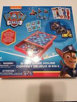 NEW Paw Patrol 6 In 1 Game House Set 6 Games All Conveniently Stowed In 1 Case