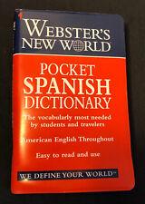 Webster's New World Pocket Spanish Dictionary : English-Spanish, Spanish-English