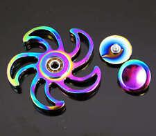 flower  Rainbow Hand Finger Spinner EDC Fidget Desk Toy Focus  Stress Relief HB3