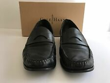 COLE HAAN WOMENS LAUREL MOC CLASSIC LEATHER PENNY LOAFER 11 B BLACK D35100