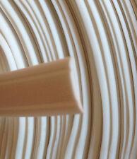 10 m Abdeckprofil Leistenfüller Leistenkeder Schraubkanal weiss weiß 12mm