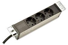 """Steckdosenleiste 3fach mit Aluprofil für 10"""" Rack Montage  DIGITUS® DN-95411"""