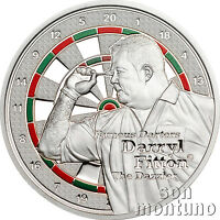 """DARRYL FITTON """"The Dazzler"""" - Famous Darters Coin Series - 2014 Cook Islands $1"""