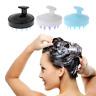 Silicone Shampoo Scalp Shower Washing Hair Growth Massage Massager Brush Comb UK