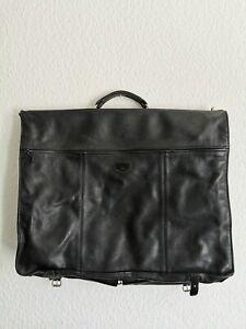 Longchamp Kleidersack Anzug Tasche Leder Schwarz England