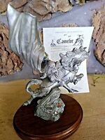 "Perth Pewter LE12 CAMELOT PEWTER FIGURINE Huge, 9"" Ltd.Ed.(#186), Mint, w/COA"