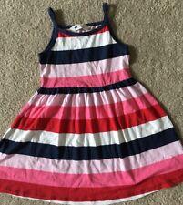 H&M Girls EUC 2-4 Y Red/pink/blue stripe sundress SWEET !!