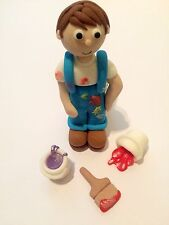 Edible Painter And Decorator Figure Icing Cake Topper Decoration