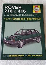 Rover 216 & 416 1989-1996 Haynes Service & Repair Manual (2003)