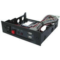 """5.25"""" front Bay Module with USB Port, LED, Reset Button, Power Switch.ECR9400USB"""
