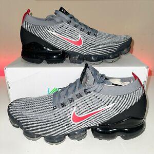 NEW Nike Air Vapormax Flyknit 3 Men's 13 Particle Grey University Red AJ6900 012