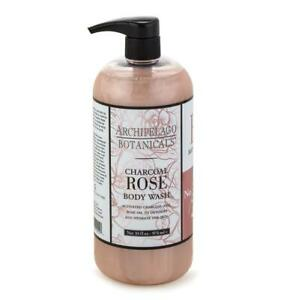 Archipelago Botanicals Charcoal Rose Body Wash 33 fl oz