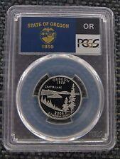 2005-S 25c Oregon CLAD State Flag Label Quarter Proof Coin PCGS PR70 DCAM