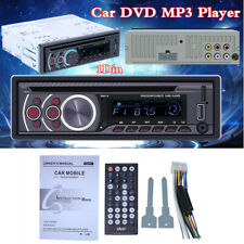 1 DIN Car CD/DVD/VCD MP3 Player Bluetooth USB Receiver AUX Stereo Audio Radio