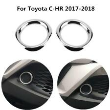 2Pcs ABS Chrome Front Fog Lamp Light Cover Trim For Toyota CHR C-HR 2017-2018
