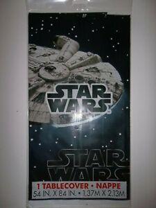 "Disney Star Wars Plastic Tablecloth--Unique Brand Ind. Item #79273-84""x 54""-NEW"