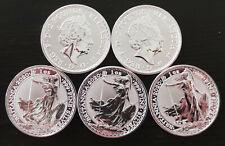 Silbermünze 1 oz - Britannia 2020 - Prägefrische Neuware - 1 Unze Feinsilber 999