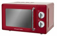 Russell Hobbs RHRETMM705R 17L Retro Manual 700w Solo Microwave Red