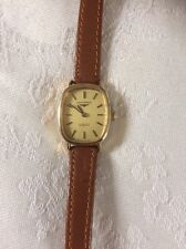 Stunning LONGINES 17 Jewels Incabloc Gold Plated Ladies Watch. Leather Strap